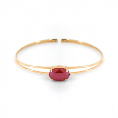 Gold Cuff bracelet Celine oval