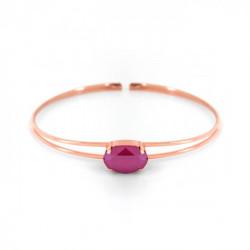 Pulsera caña oval peony pink de Celine en oro rosa
