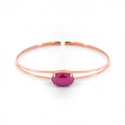 Pulsera de caña Celine oval oro rosa