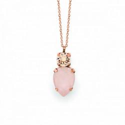 Collar lágrima ivory cream de Celine en oro rosa