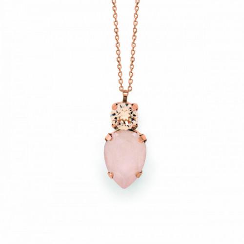 Pink Gold Necklace Celine teardrop