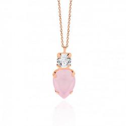Collar lágrima powder rose de Celine en oro rosa