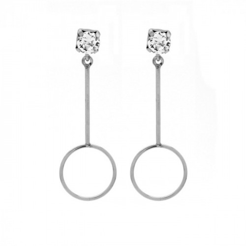 Silver Earrings Minimal circle