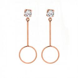 Pink Gold Earrings Minimal circle