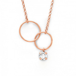 Pink Gold Necklace Minimal