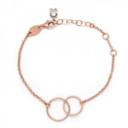 Pink Gold Bracelet Minimal circle