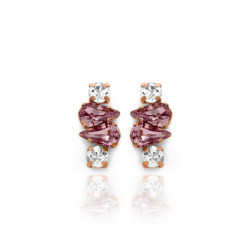 Pink Gold Earrings Celine Beatriz