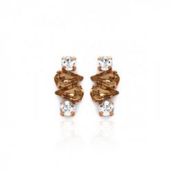 Pink Gold Earrings Celine Beatriz