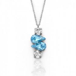 Collar lágrimas aquamarine de Celine Beatriz en plata