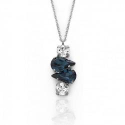 Collar lágrimas denim blue de Celine Beatriz en plata