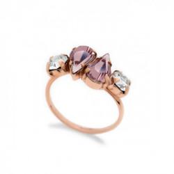 Anillo light amethyst de Celine Beatriz en oro rosa