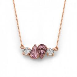Collar lágrimas light amethyst de Celine Beatriz en oro rosa