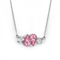 Collar lágrimas light rose de Celine Beatriz en plata