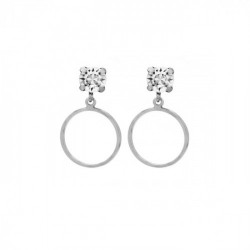 Silver Earrings Minimal circle