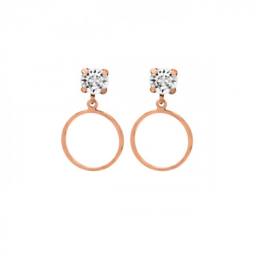 Rose Gold Earrings Minimal circle