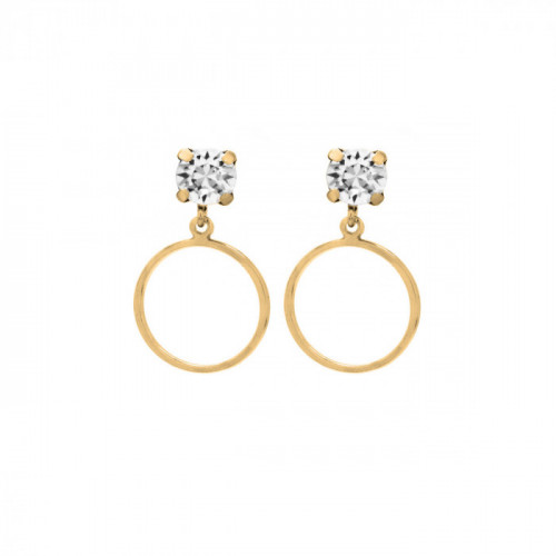 Gold Earrings Minimal circle