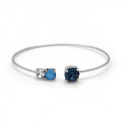 Pulsera caña círculos denim blue de Celine en plata