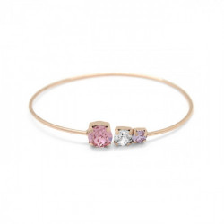 Pulsera caña círculos light rose de Celine en oro rosa