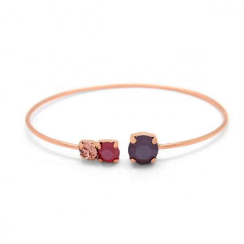 Pink Gold Bracelet Celine circles