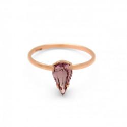 Pink Gold Ring Celine Drop