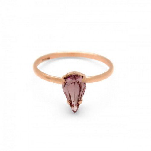 Pink Gold Ring Celine Drop