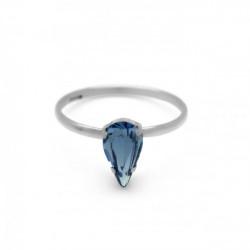 Silver Ring Celine Drop