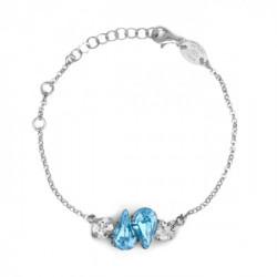 Pulsera lágrima aquamarine de Celine Beatriz en plata