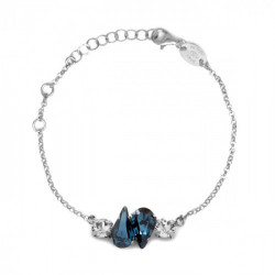 Pulsera lágrima denim blue de Celine Beatriz en plata