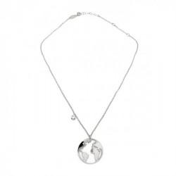 Collar mundo crystal de Minimal en plata