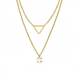 Gold Necklace Layered triangle