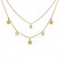 Gold Necklace Layered Crash