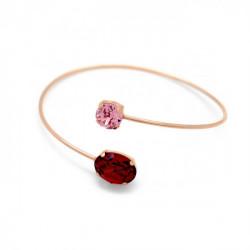 Pulsera caña oval scarlet de Celine en oro rosa