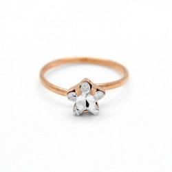 Anillo estrella crystal de Celine Star en oro rosa
