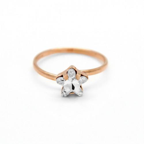 Pink Gold Ring Celine Star