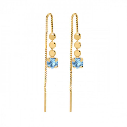 Gold Earrings Niwa Aquamarine