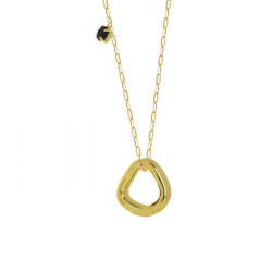 Gold Abstract Necklace Jet