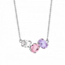 Silver Necklace Celine three oval