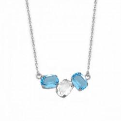 Collar oval aquamarine de Celine en plata
