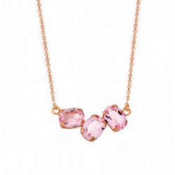 Pink Gold Necklace Celine three oval