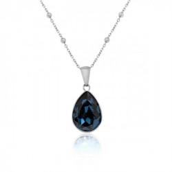 Collar lágrima denim blue de Essential en plata