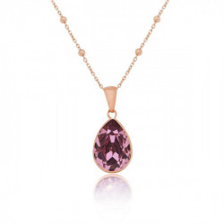 Collar lágrima antique pink de Essential en oro rosa