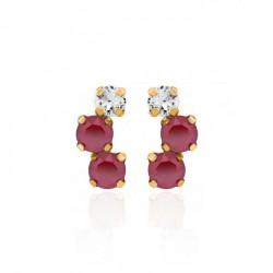 Gold Earrings Celine triple