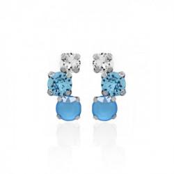 Pendientes redondos summer blue de Celine en plata