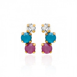 Gold Earrings Celine triple