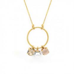 Collar círculo ivory cream de Aura en oro