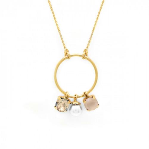 Collar Aura círculo oro