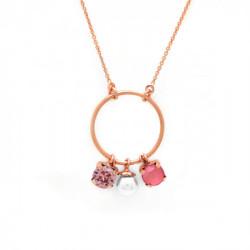 Pink Gold Necklace Aura circle