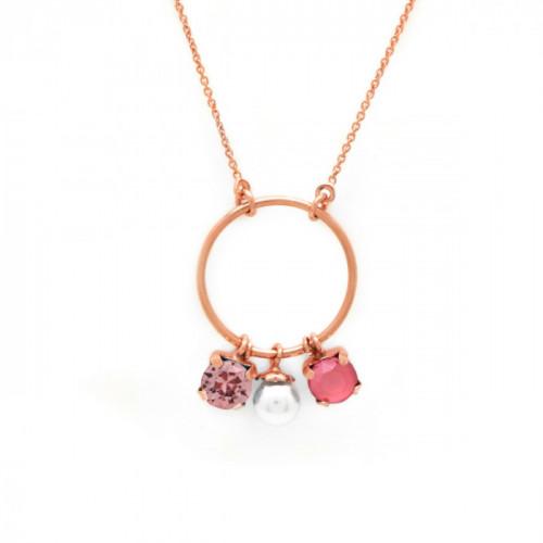 Collar Aura círculo oro rosa