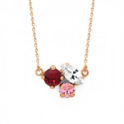 Pink Gold Necklace Celine triple