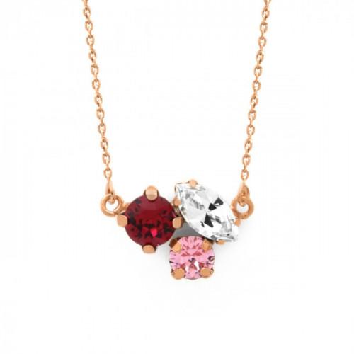 Collar Celine triple oro rosa